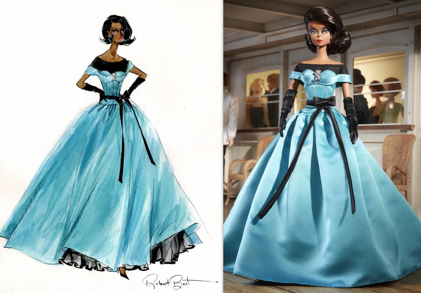 AA Ball Gown Sketch by Robert Best | Dutch Fashion Doll World